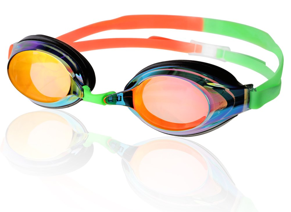 d5d19992475 Amazon.com   Phoenix Prescription Racing Swim Mirrored Best Anti Fog Goggle  PR-1SM   Sports   Outdoors