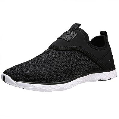 3dc265262d3e ALEADER Men s Slip-on Athletic Water Shoes Black 7 D(M) US
