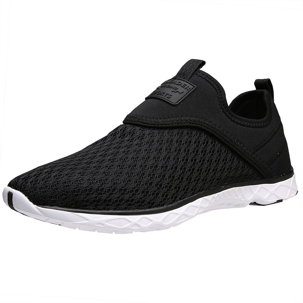 ALEADER Women's Slip-on Athletic Water Shoes Black 7 D(M) US