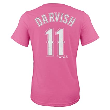 56c8e373d7b Image Unavailable. Image not available for. Color  Outerstuff Yu Darvish  Texas Rangers MLB Majestic Pink Name   Number T-Shirt ...