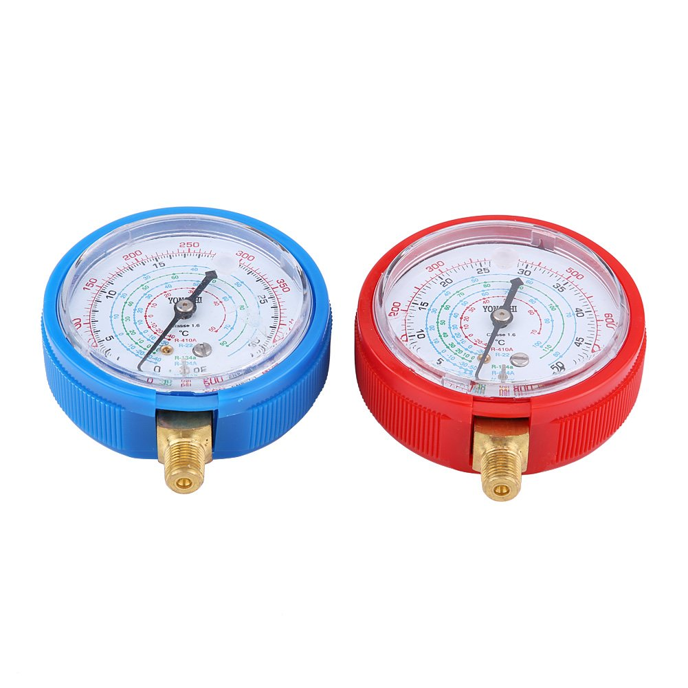 Acouto Pair of Air Conditioner R410A R134A R22 Refrigerant High & Low Pressure Gauge Kit