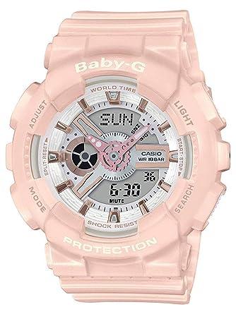 89fbf5f04 Amazon.com: Casio BA110RG-4A Baby-G Women's Watch Pastel Pink 43.4mm Resin:  Watches