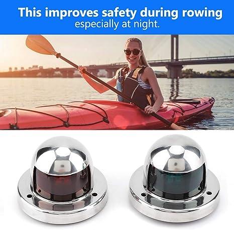 Yacht 1 lumi/ère de Navigation /à LED Rouge et Verte de Navigation de Bateau de la Paire 12V pour Bateau Ponton Lumi/ère de Navigation LED Marine Kayak Bateaux /à air