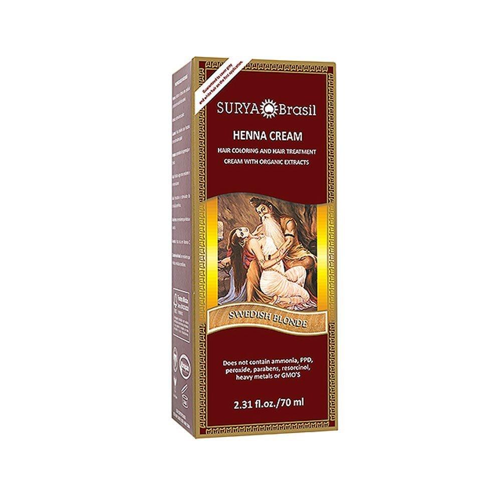 Henna Swedish Blonde Cream Surya Nature, Inc 2.31 oz Cream by Surya Nature, Inc