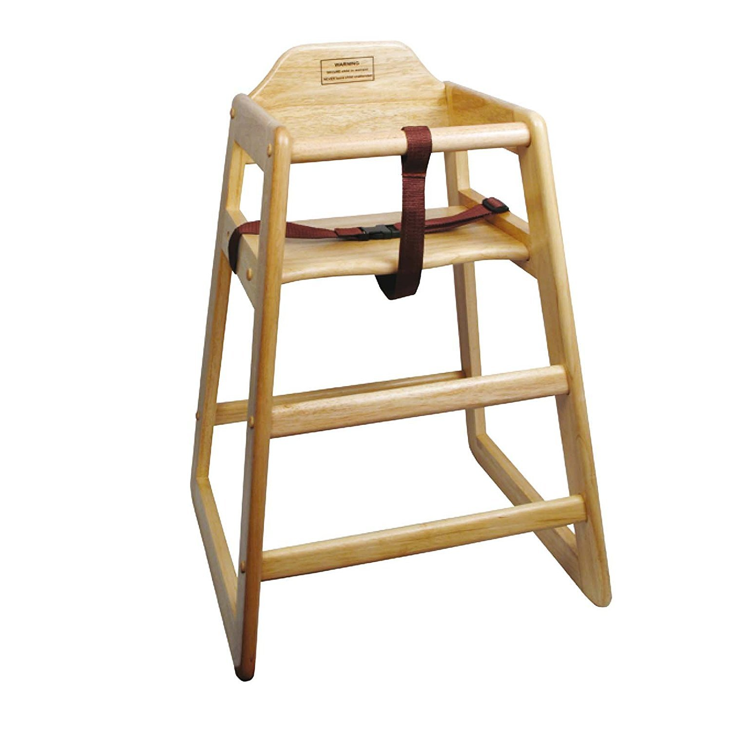 Winco CHH-101 Unassembled Wooden High Chair, Natural (Set of 2)