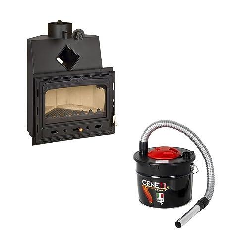 Combustión de madera chimenea Insertar Prity, Modelo ca, salida de calor 14 kW,