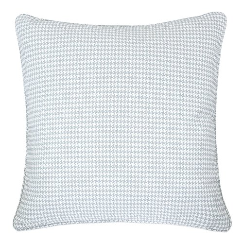 Home Accent Pillows Homey Cozy Jacquard Cotton Throw Pillow Cover,Gray Houndstooth Modern Silk Plaid Textured Sofa Couch Decorative Pillow Case 20x20,Cover - Accent Houndstooth