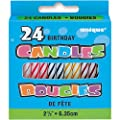 Striped Birthday Candles, 24ct