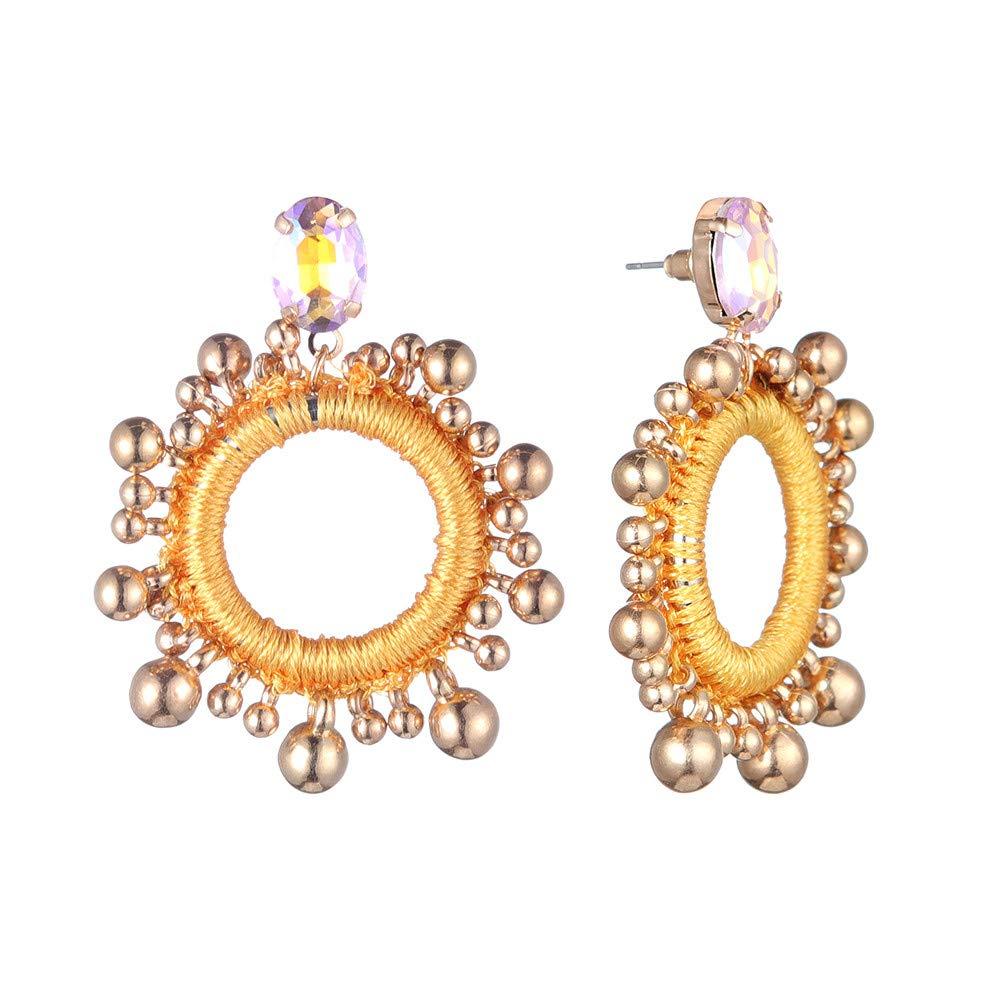 EKIMI Bohemian Hallow Circles Stud Earrings Ear Studs Girls Gift