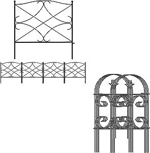 Amagabeli Decorative Garden Fence 24in x 10ft Bundle Garden Fence 24inx10ft