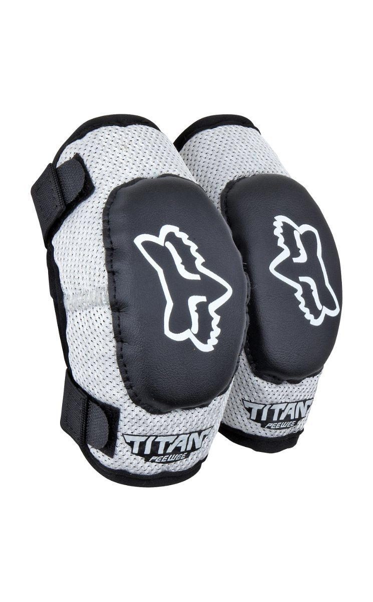 Vigilante Fox Titan Youth Combo Pack - Bundle with Roost Protector, Knee Guards, Elbow Guards for Dirt Bike, BMX, Mountain Bike (Black/Silver, Small/Medium (4-6 Years Old) by Vigilante