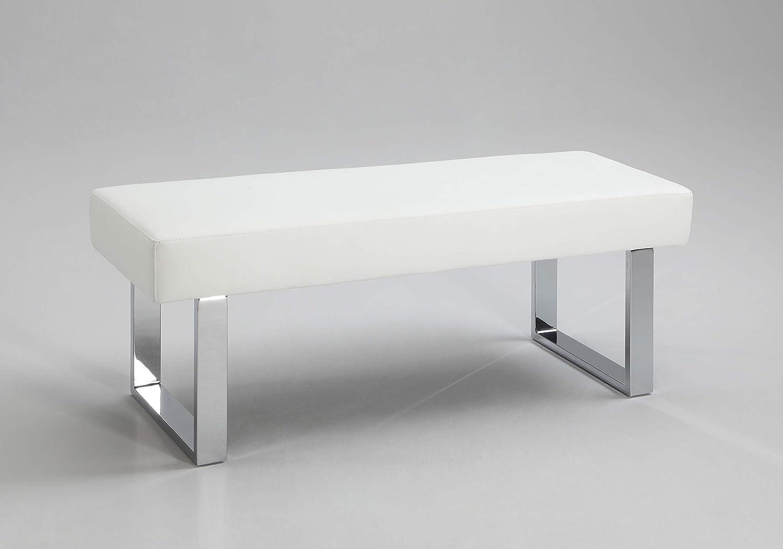 Milan Leah Backless Bench White Long
