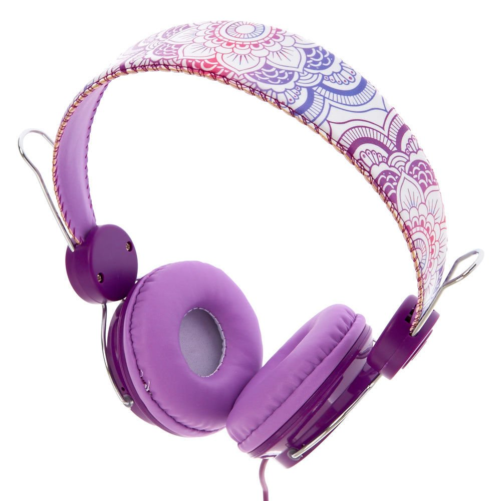 Claire's Girl's Purple Mandala Headphones