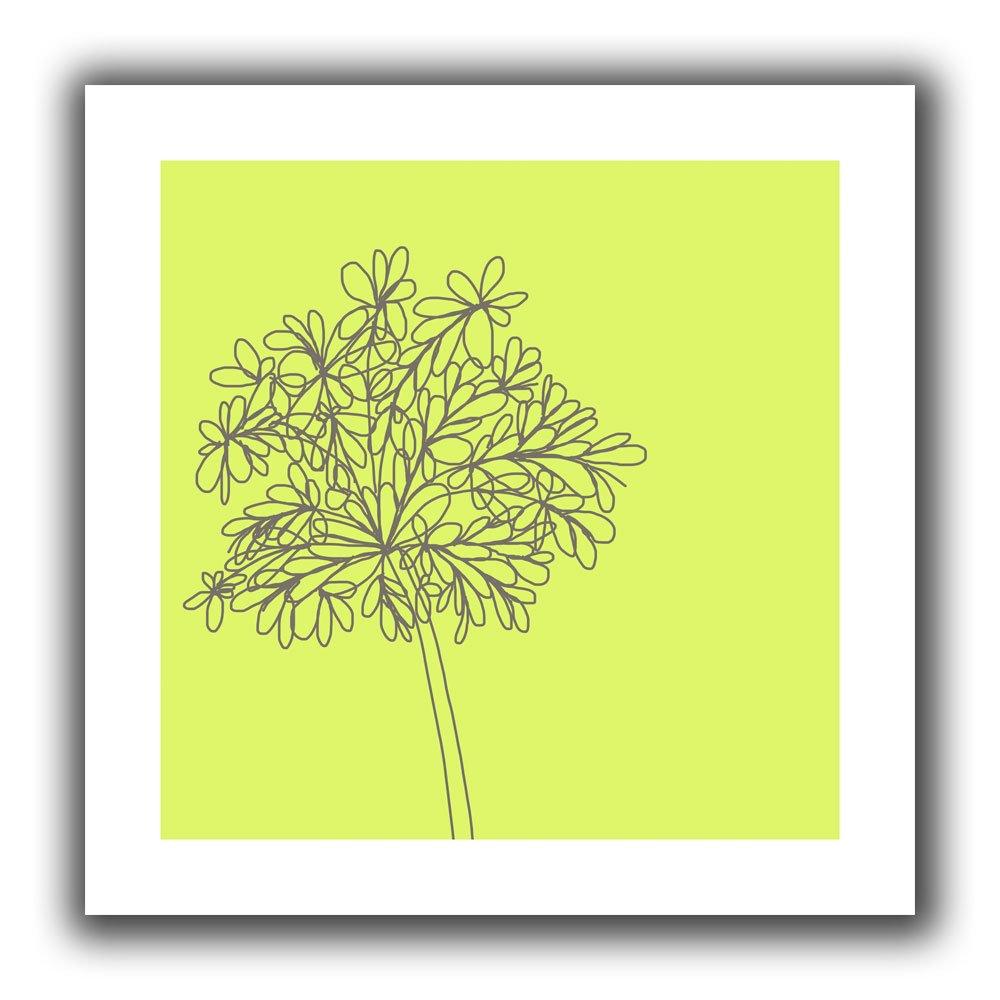 ArtWall Jan Weiss Citron Happy Flower II Unwrapped Canvas Art 22 by 22-Inch