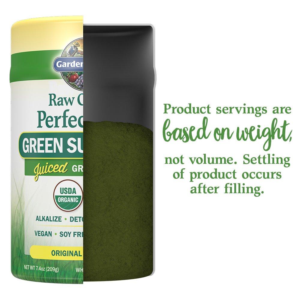 Garden of Life Vegan Green Superfood Powder - Raw Organic Perfect Whole Food Dietary Supplement, Original, 7.4oz (209g) Powder by Garden of Life (Image #5)