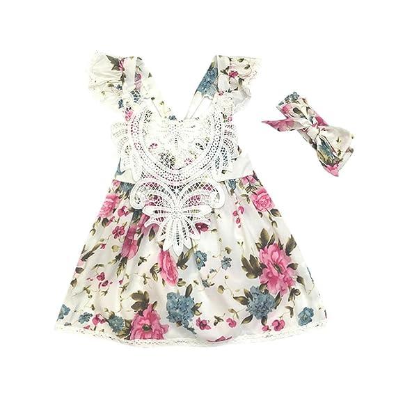 K Youth Vestido Para Niñas 2018 Correa Para Bebé Pequeña De 2 Piezas Vestidos De Princesa Sin Mangas Florales Ropa Bebe Niña Recien Nacida Diadema