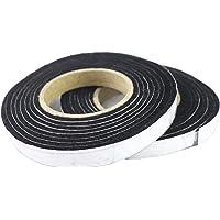LANUCN BBQ Smoker Smoke Seal Strip/Self Stick Leak Proof Fiber Strip/Oven Door Seal Hopper Lid Sealing Strip/Smoke Keeping Strip/Heat Resistant Gasket (8.2ft,1/2'',1/8'',2 Pack)
