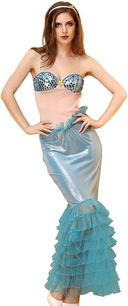 FIZZENN Disfraz de Sirena para Mujer Lencería Cosplay de Halloween ...