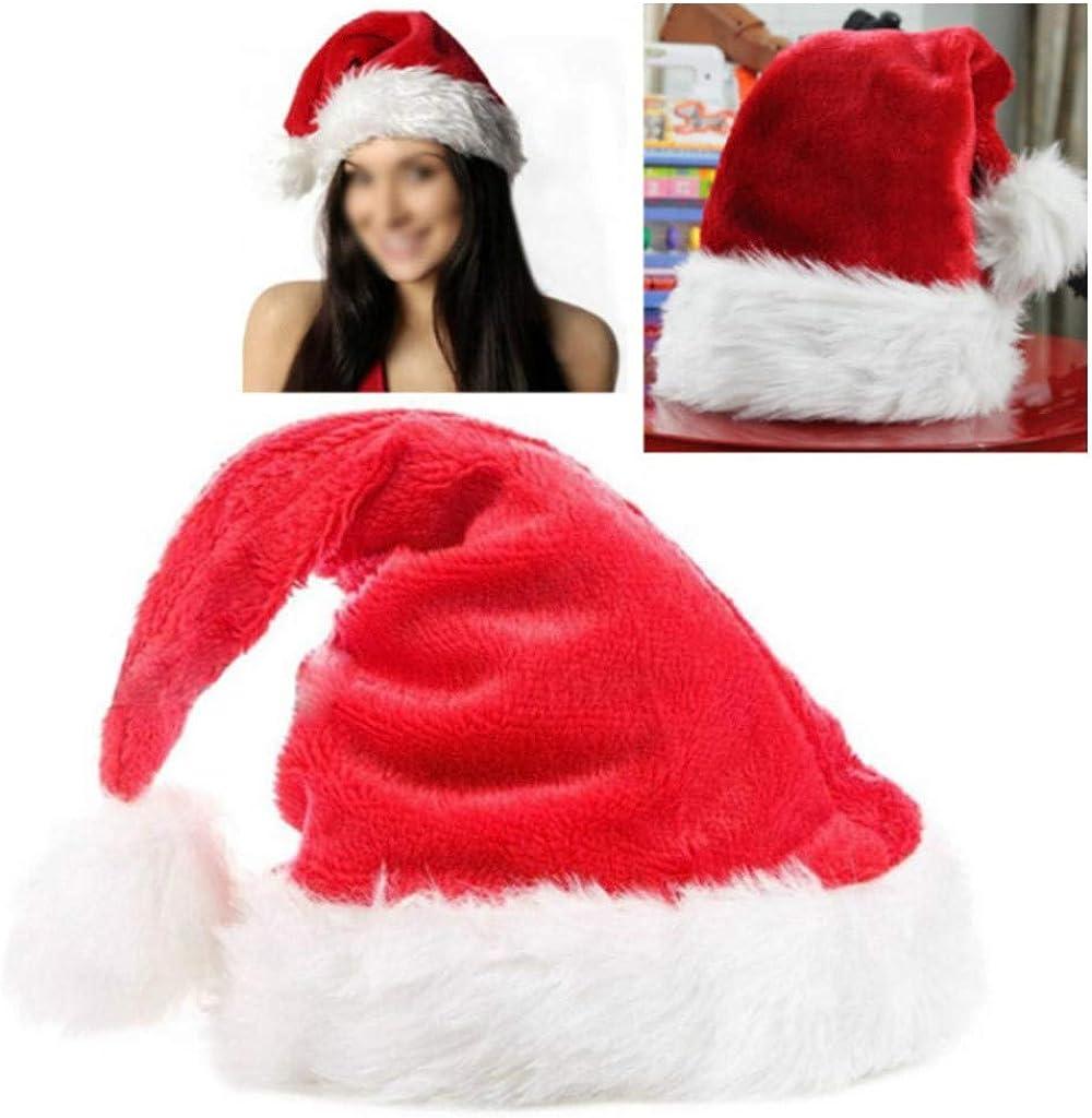 Tronet Christmas Hat,Santa Hat for Kids Baby Big Santa Hat Comfort Double Liner Plush Red Velvet