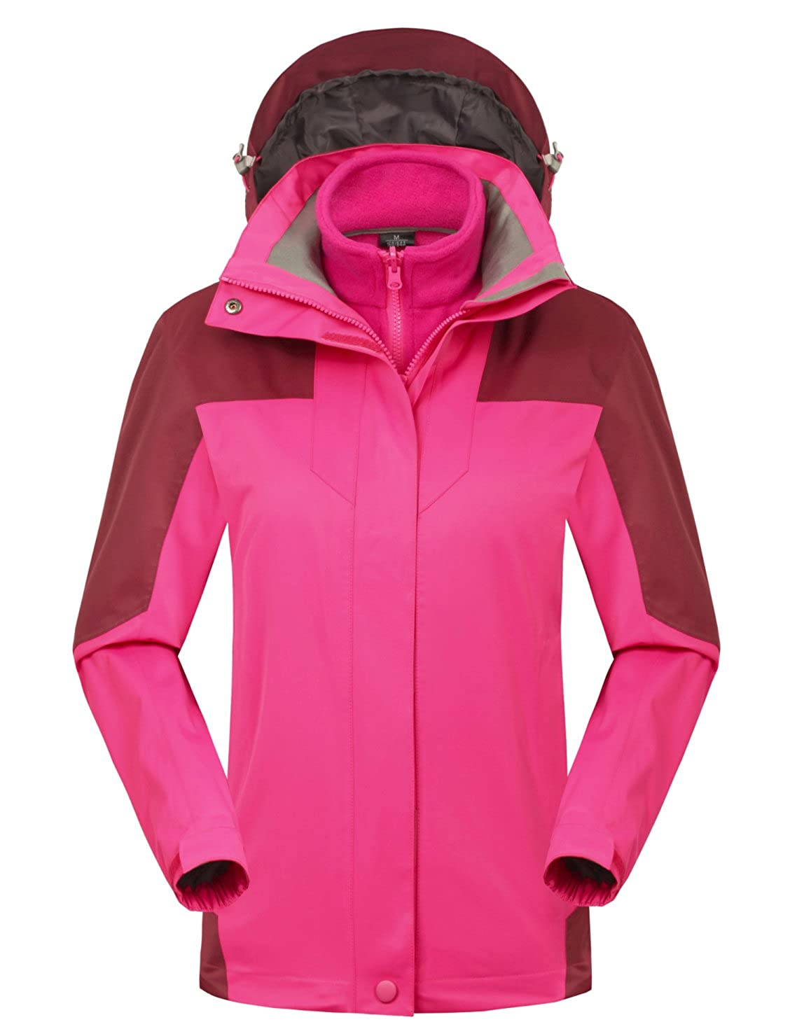 Mocotono Womens Waterproof Rain Jacket Fleece Snow Ski Winter Coat Jaket Silver Misty Cfy W1798