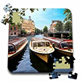 Danita Delimont - Boats - Cruise boats, Amstel canal, Amsterdam, The Netherlands - EU20 MGL0074 - Miva Stock - 10x10 Inch Puzzle (pzl_138354_2)