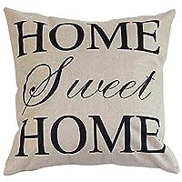 """Funda de almohada decorativa cuadrada de algodón de lino de Onker Funda de cojín 18 """"x 18"""" Amor casero dulce en palabras sencillas"""