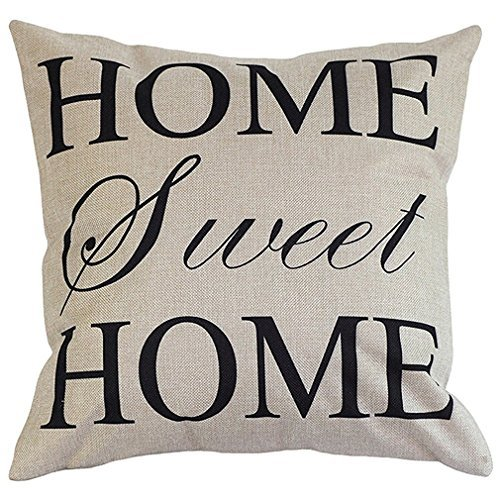 Throw Pillow Case Cover Onker Cotton Linen Square Home Sweet