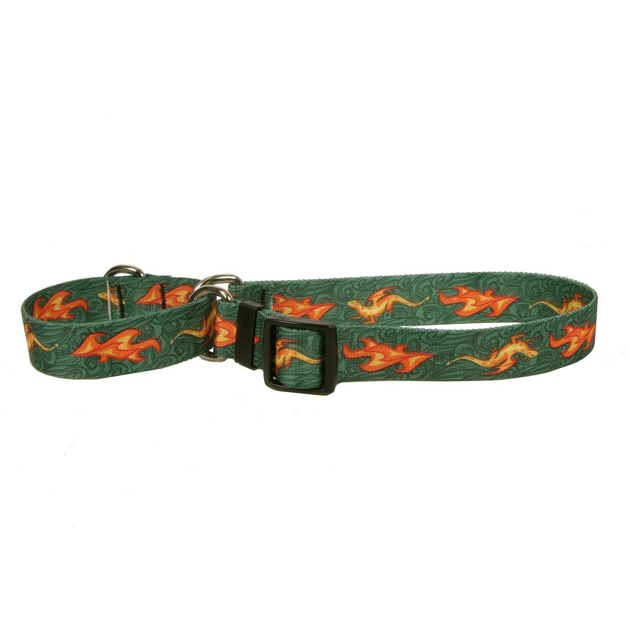 Yellow Dog Design Martingale Slip Collar, Fire Breathing Dragon, Medium 20''