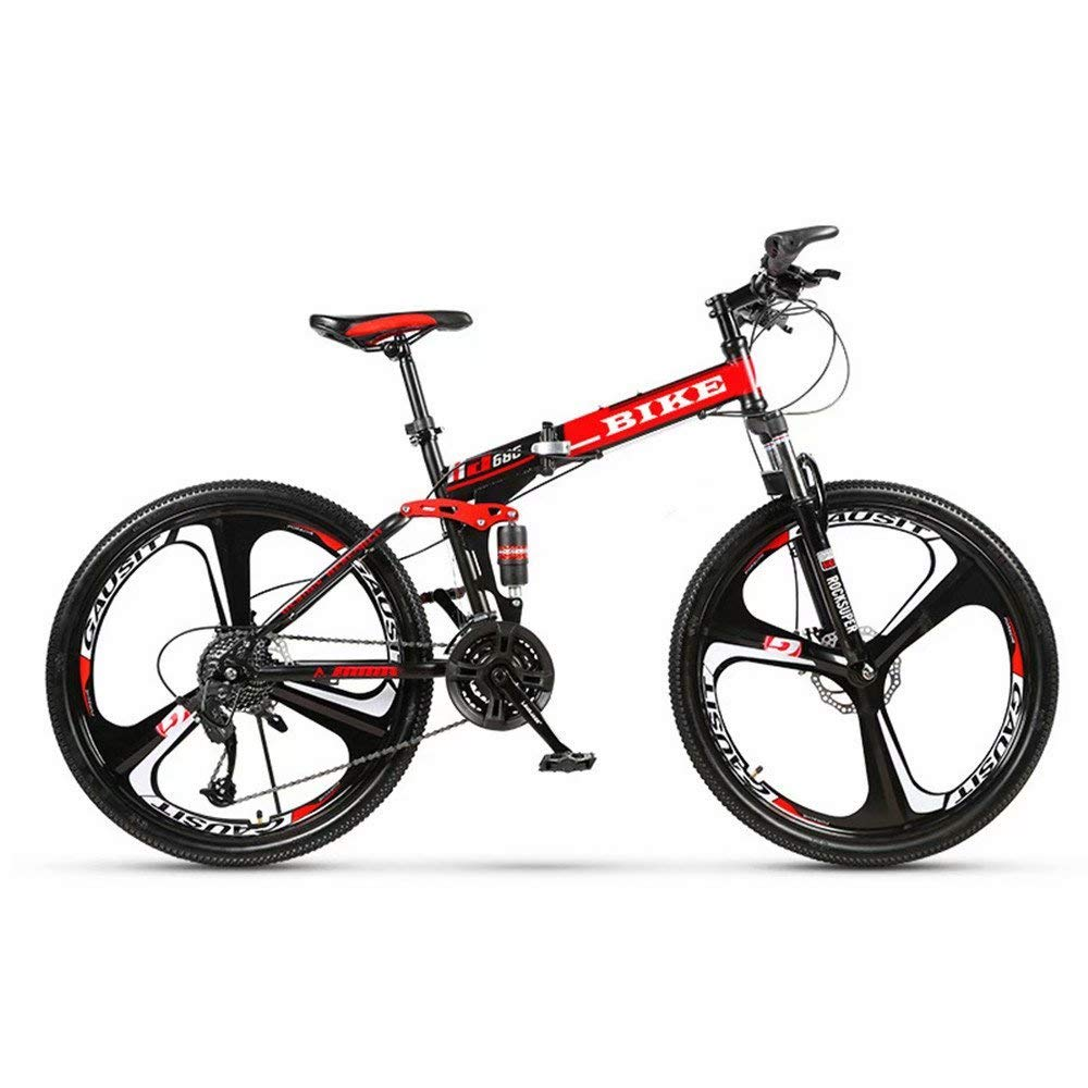 6 Cutters Wheel Adult MTB,Hardtail Bicycle with Adjustable Seat Novokart- Country Mountain Bike 24//26 Inch with Double Disc Brake Thickened Carbon Steel Frame,Red