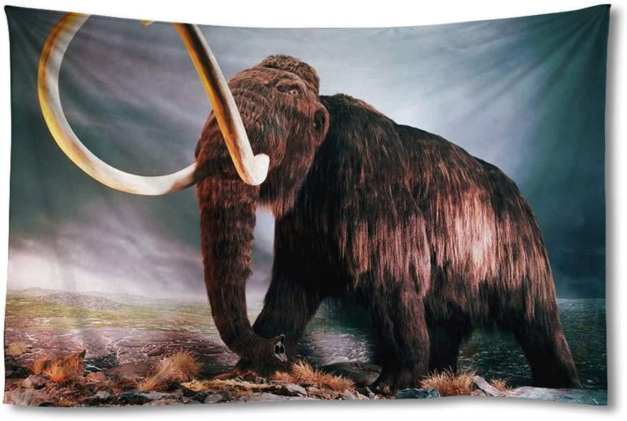 FHYGJD Woolly Mammoth Art Print Tapestries,Home Wall Decor Tapestry(30x45 inch)