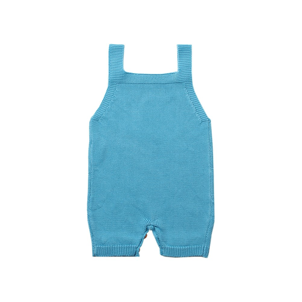 mimixiong Baby Knit Sling Romper Toddler Sleeveless Jumpsuit White Cloud Pattern Clothes