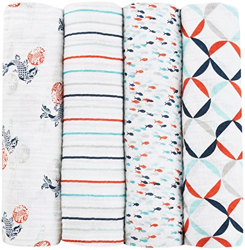 aden anais collection swaddle fish