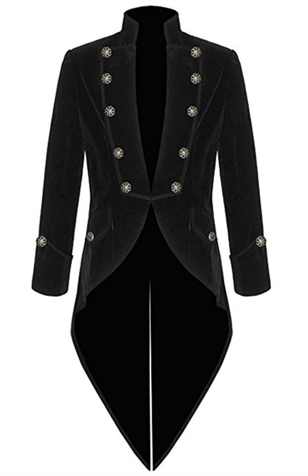 Suxiaoxi Blazer for Men Big and Tall Stylish Velvet Long Steampunk Jackets Men's Formal Gothic Victorian 3