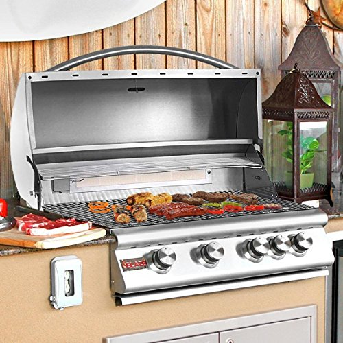 Blaze 32-Inch 4-Burner Built-In Propane Gas Grill With Rear Infrared Burner – BLZ-4-LP