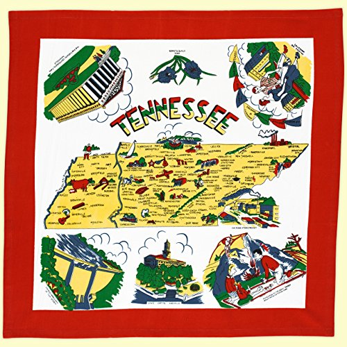 The Red & White Kitchen Co. Tennessee State Dish Towel