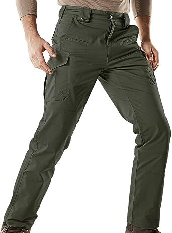 Amazon Com Cqr Pantalones Tacticos Para Hombre Repelentes Al Agua Pantalones Cargo Pantalones De Trabajo Edc Ligeros Para Exteriores Para Senderismo Clothing