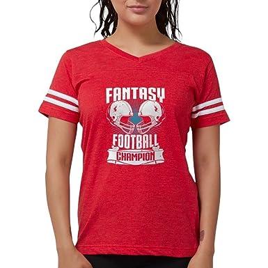 cd1c15f822 CafePress - Fantasy Football Champion T-Shirt - Womens Football Shirt Red