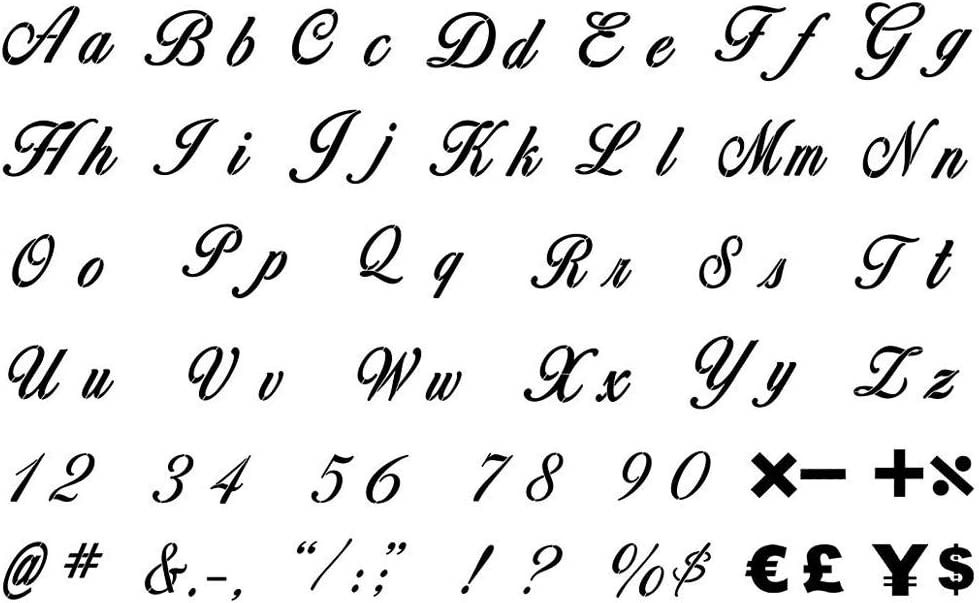 Letter Stencils for Painting on Wood 42 Pack Alphabet Stencil Templates with Numbers and Signs Large Reusable Plastic Stencils in 2 Fonts and 132 Designs for Wood Burning /& Wall Art