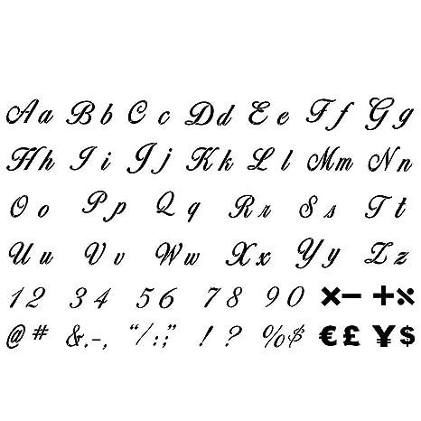 Louisayork Lot De 40 Pochoirs En Plastique Avec Lettres De L