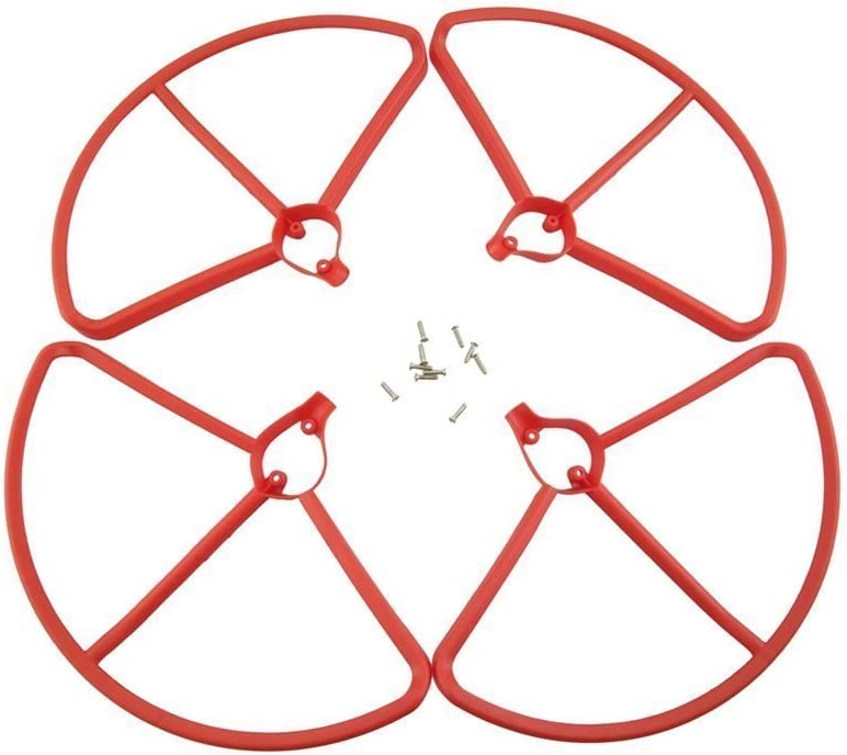 4pcs protection ring 4pcs landing gear RC drone accessories for Hubsan x4 h501s h501c brushless quadcopter upgrades section Fytoo Accessories 4pcs trilobal propeller