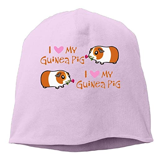 eda9b8641b1 Amazon.com  I Love Guinea Pigs Cartoon Rose Winter Beanie Skull Cap ...