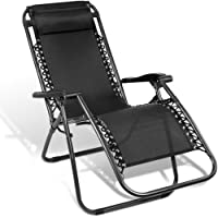 Zero Gravity Chair with Headrest - 166 Tilting Angle, Foldable Design, Beach Chair, Camping Chair, Outdoor Chair…