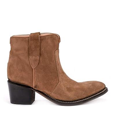 e1d4c61d9d487 Amazon.com   ÂME Women's Isabel Tobacco Suede Texan Ankle Boots   Ankle &  Bootie