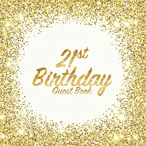 Book: Party celebration keepsake for family and friends to write best wishes, messages or sign in (Square Golden Glitter Print) ()