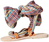 Brother Vellies Women's Zanzibar Wrap Gladiator Sandal, Stripe, 7 M US