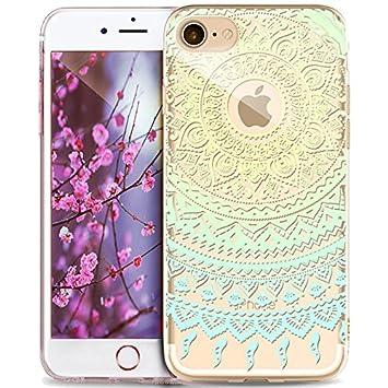 absorci/ón de impactos TPU transparente para Apple iPhone 6S Plus de 5,5 pulgadas Carcasa de gel de silicona ultradelgada ikasus dise/ño de mandala indio iPhone 6S Plus case