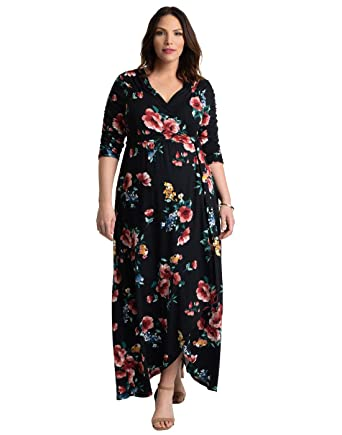 62704087351 Image Unavailable. Image not available for. Color  Kiyonna Women s Plus Size  Meadow Dream Maxi Dress