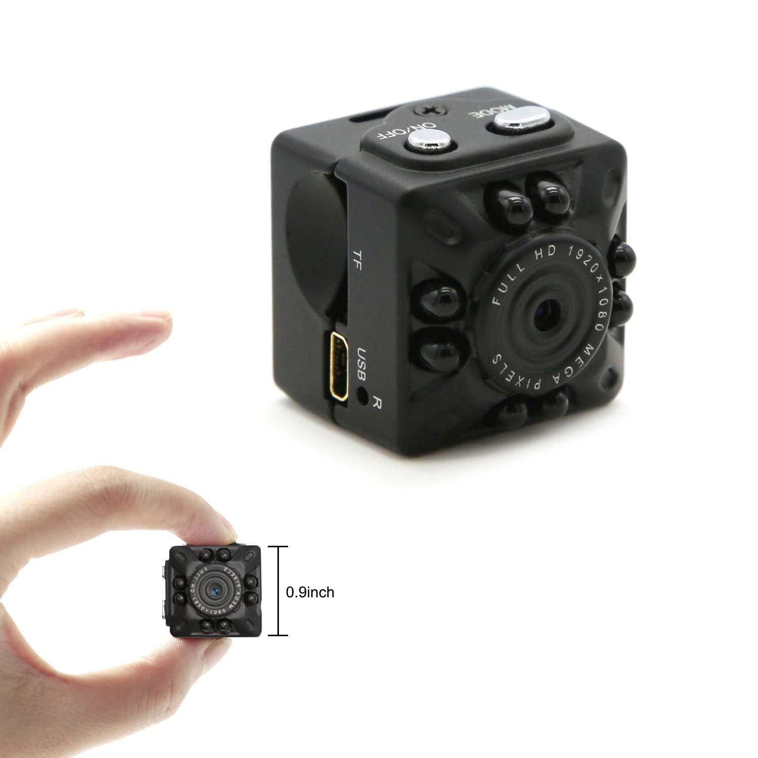 Amazon.com : Aufikr Mini Camera Recorder 1080P Full HD Small Camera ...
