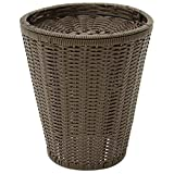 Expressly HUBERT Square Dark Brown Plastic Floor Display Basket - 17 3/4''L x 19 3/4''H