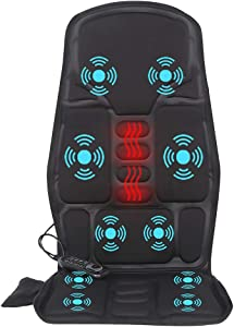 Vibration-Back-Massager with Heat, Back-Massage-Cushion, Chair Seat Massager with 10 Vibrating Nodes to Release Stress and Fatigue, for Home Office Use
